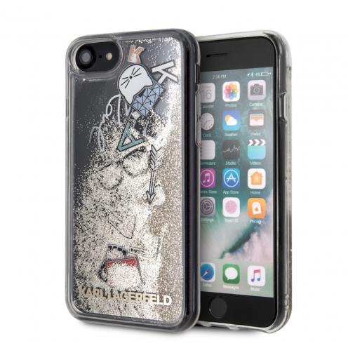 Coque Karl Lagerfeld® KLHCI8KSICGO iPhone 7/8 Liquid Or