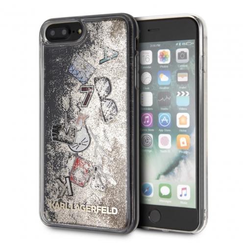 Coque Karl Lagerfeld® KLHCI8LKSICGO iPhone 7/8 Plus Liquid Or