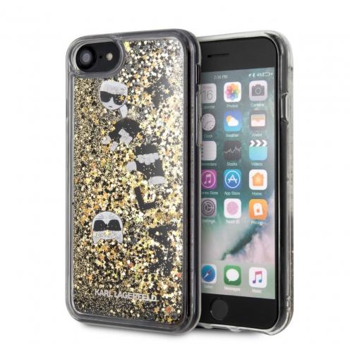 Coque Karl Lagerfeld® KLHCI8ROGO iPhone 7/8 Liquid Or