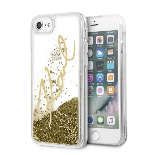 Coque Karl Lagerfeld® KLHCI8SGGO iPhone 7/8 Liquid Or