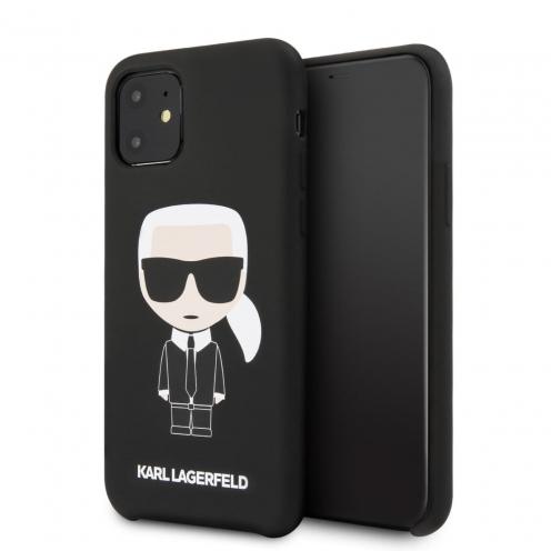 Coque Karl Lagerfeld® KLHCN61SLFKBK iPhone 11 Noir