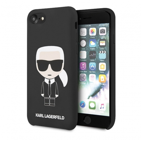 Coque Originale Karl Lagerfeld© KLHCI8SLFKBK iPhone 7/8 Noir