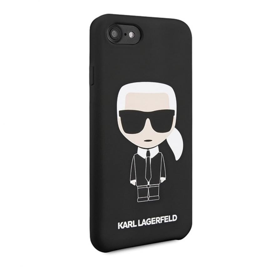 Coque Originale Karl Lagerfeld© KLHCI8SLFKBK iPhone 7/8 Noir