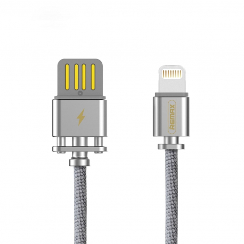 Remax© Cable USB Sury 2 series compatible avec Apple Lightning 8-pin 2,4A RC-064i Argent