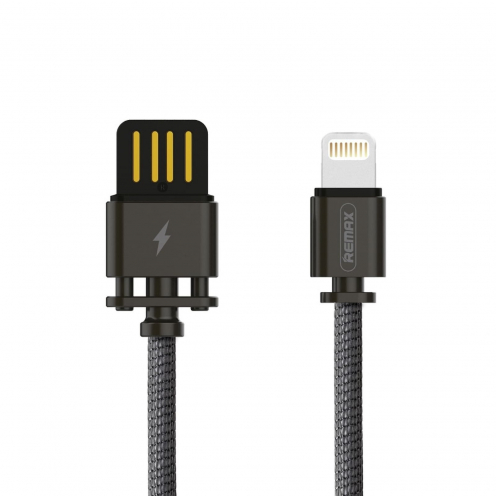 Remax© Cable USB Sury 2 series compatible avec Apple Lightning 8-pin 2,4A RC-064i Noir
