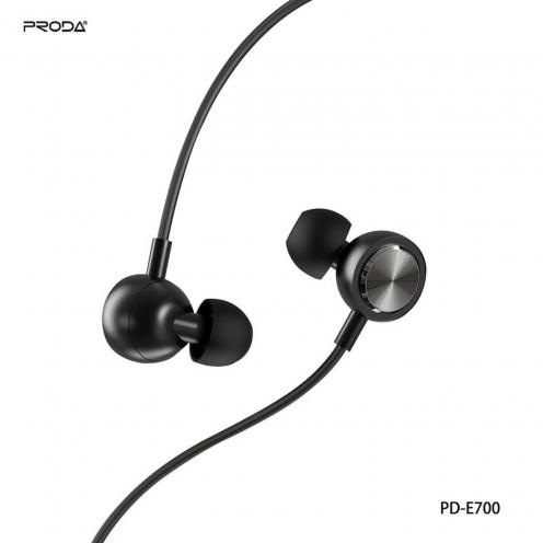 Remax© Proda Ecouteurs stereo jack 3,5mm PD-7600 Noir