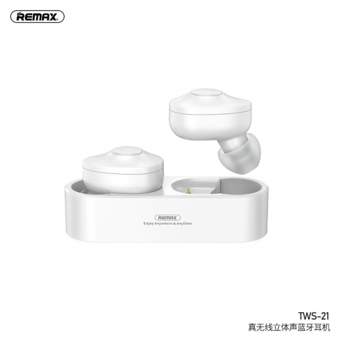 Remax© Ecouteurs Bluetooth TWS-21 with power bank Blanc