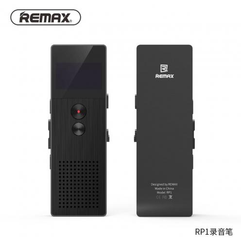 Remax® Enregisteur Audio avec LCD OLED RP-1 Noir