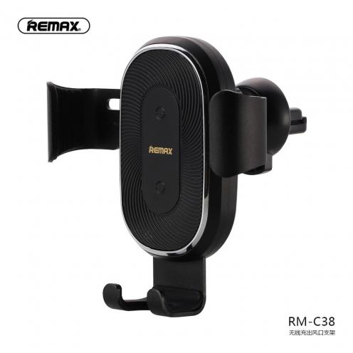 Remax® Support Voiture Ventilateur avec Charge sans-fil RM-C38 Noir