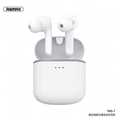 Remax® True Ecouteurs Bluetooth TWS-7 avec power bank Blanc