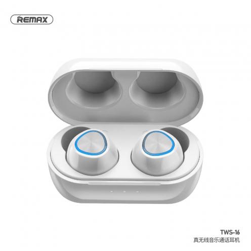 Remax® True Ecouteurs Bluetooth TWS-16 avec power bank Blanc