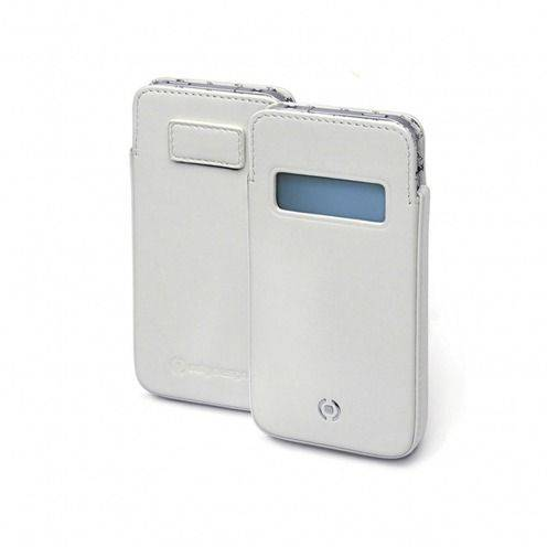 Zoom sur Etui cuir véritable pouch Cellydesign® Win blanc pour iPhone 5