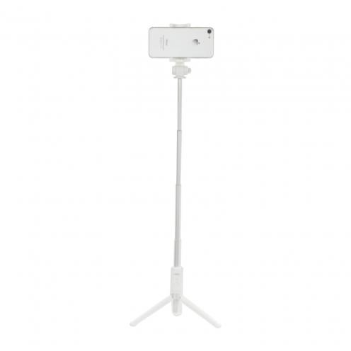 Selfie stick combo Remax P9 Bluetooth Blanc