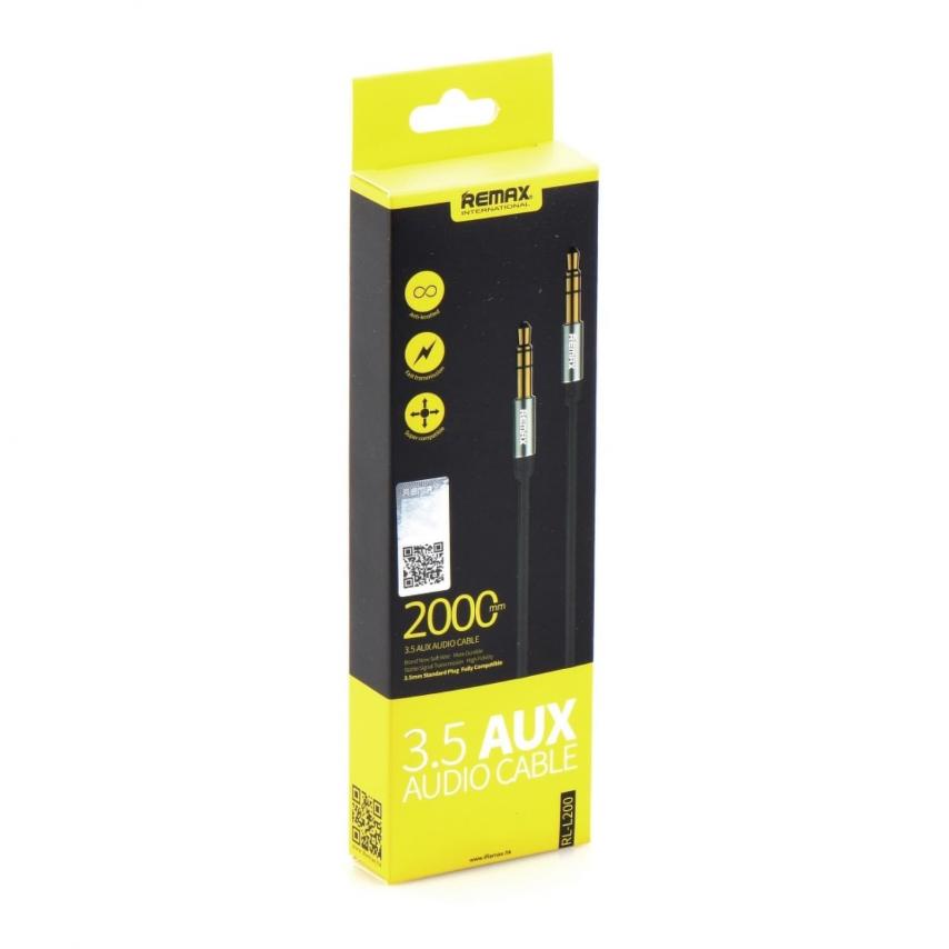 REMAX 3.5mm Aux Jack Cable L200 2m Noir