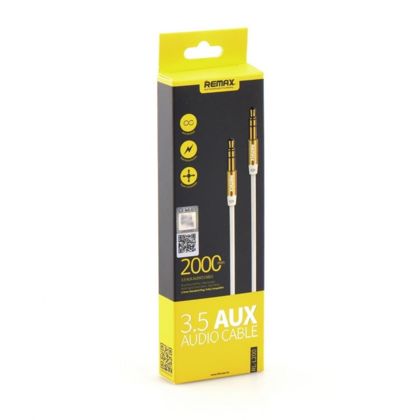REMAX 3.5mm Aux Jack Cable L200 2m Blanc