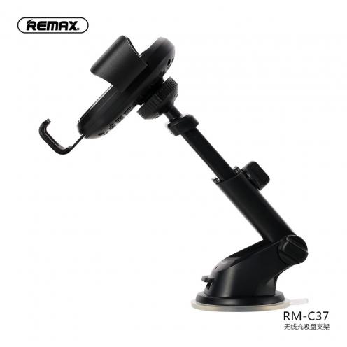 REMAX Support Voiture avec wirelles charger RM-C37 Noir