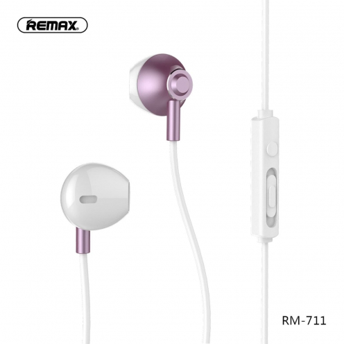 REMAX Ecouteurs RM-711 rose-Or