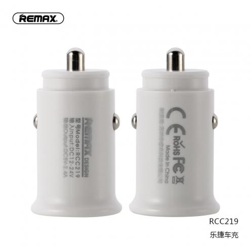 REMAX Chargeur Voiture ROKI 2xUSB 2,4A RCC219 Blanc