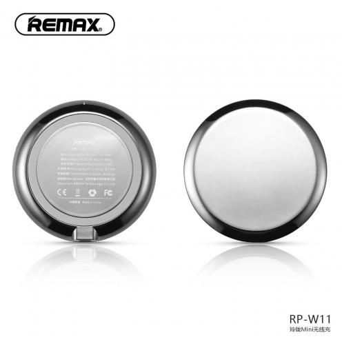 REMAX Chargeur Sans Fil Linion Quick Charge Qi RP-W11 Argent