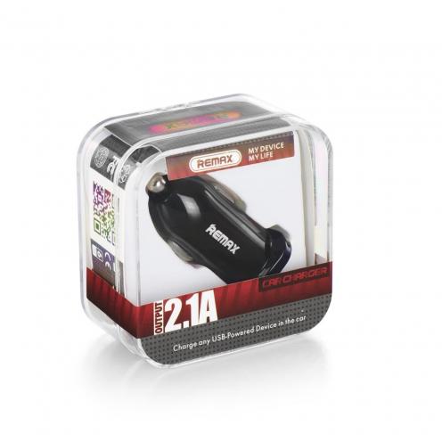 REMAX Chargeur Voiture Single USB 2.1A RCC101 Noir