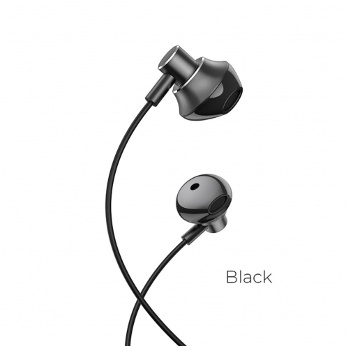 Hoco© Ecouteurs M75 Belle Universel jack 3,5mm Noir
