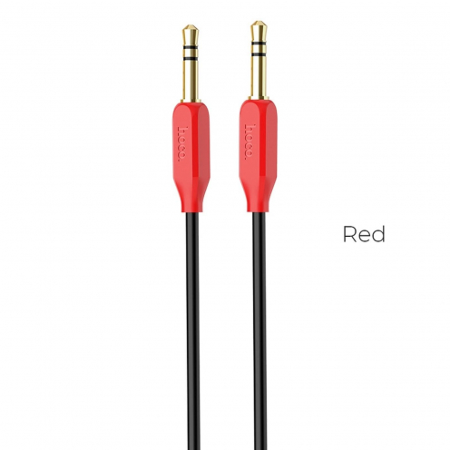 HOCO cable audio AUX Jack 3,5mm UPA11 Rouge
