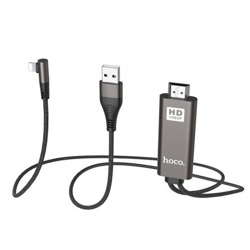 HOCO adaptateur HDMI vers Lightning 8-pin UA14 Noir