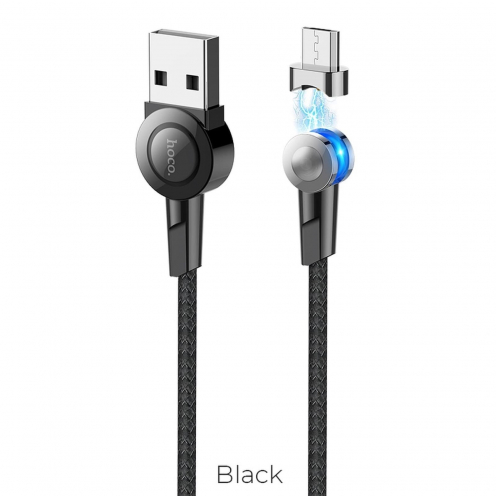Hoco Selected® Magnetic Câble Charge Micro USB S8 Noir