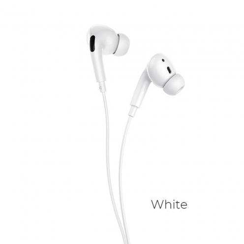 Hoco® L10 Acoustic Ecouteurs Filiaires Type-C avec micro Blanc