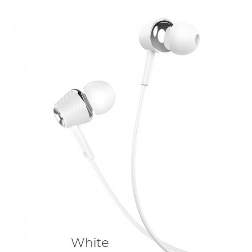Hoco® Ecouteurs Universels Gracefull avec micro M70 Blanc