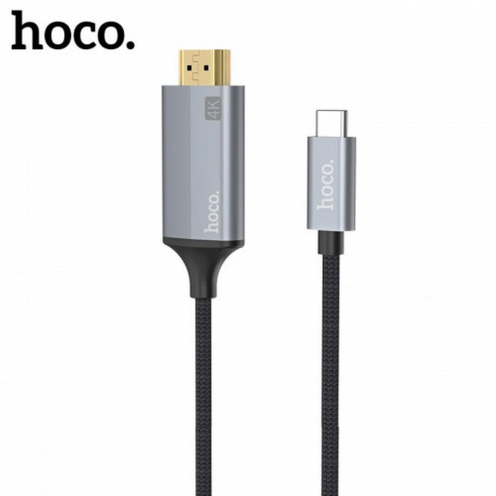 HOCO adapter HDMI Typ C 1,8m UA13 Gris