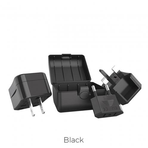 HOCO Chargeur Secteur universal convertel (EU/US/UK/AU) AC1 Noir