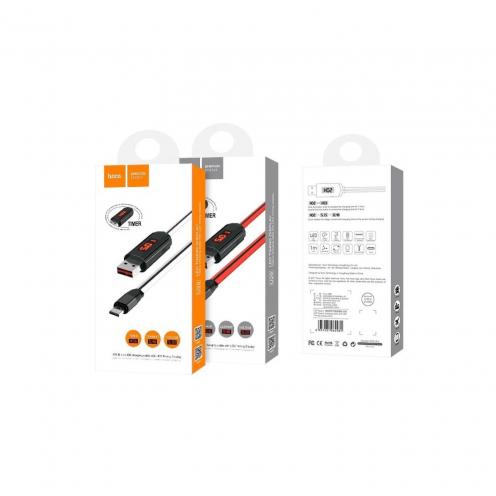 HOCO Câble LED displayed timing Micro U29 Blanc