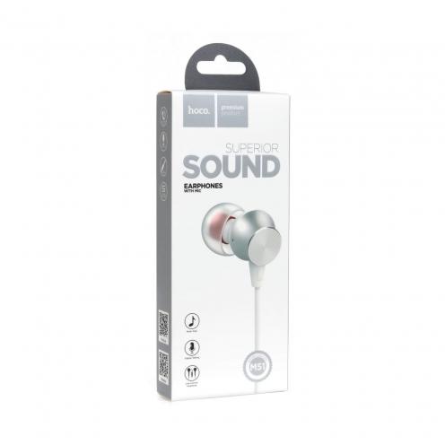 HOCO Ecouteurs Proper sound avec Micro M51 Blanc