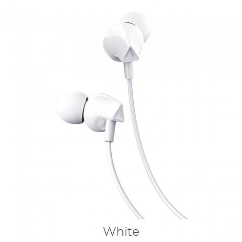 HOCO Ecouteurs M60 Perfect sound universal Ecouteurs avec Micro Blanc