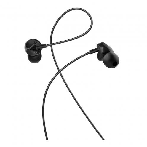 HOCO Ecouteurs M60 Perfect sound universal Ecouteurs avec Micro Noir