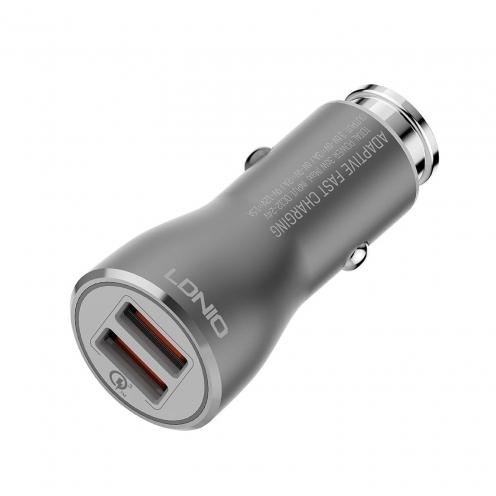 Chargeur Voiture LDNIO C407Q Quick Charge 3.0 avec double USB socket 3A + micro USB Câble