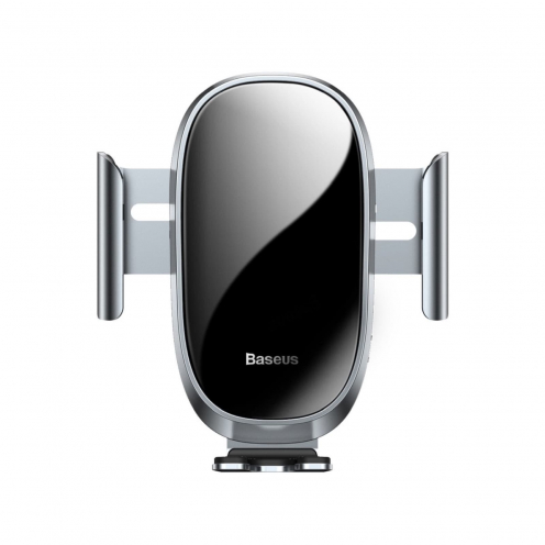 BASEUS Support Voiture Smart Car Mount Cell Phone Holder Silver (automatic close) SUGENT-ZN0S