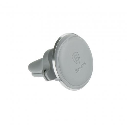 BASEUS Support Voiture Magnetic Air Vent Car Mount Holder avec Câble clip Silver SUGX-A0S