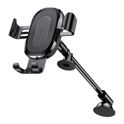 BASEUS Support Voiture Heukji Charge Sans Fil Gravity Car Mount Black WXZT-01