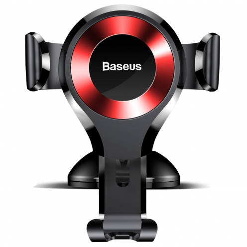 BASEUS Support Voiture Osculum Type Gravity Car Mount Black-Red SUYL-XP09