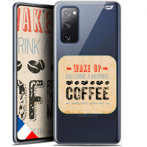 """Coque Gel Samsung S20 FE (6.5"""") Extra Fine Motif - Wake Up With Coffee"""