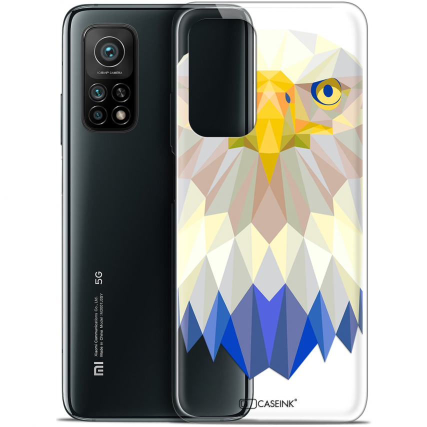 "Coque Gel Xiaomi Mi 10T / 10T Pro 5G (6.67"") Polygon Animals - Aigle"