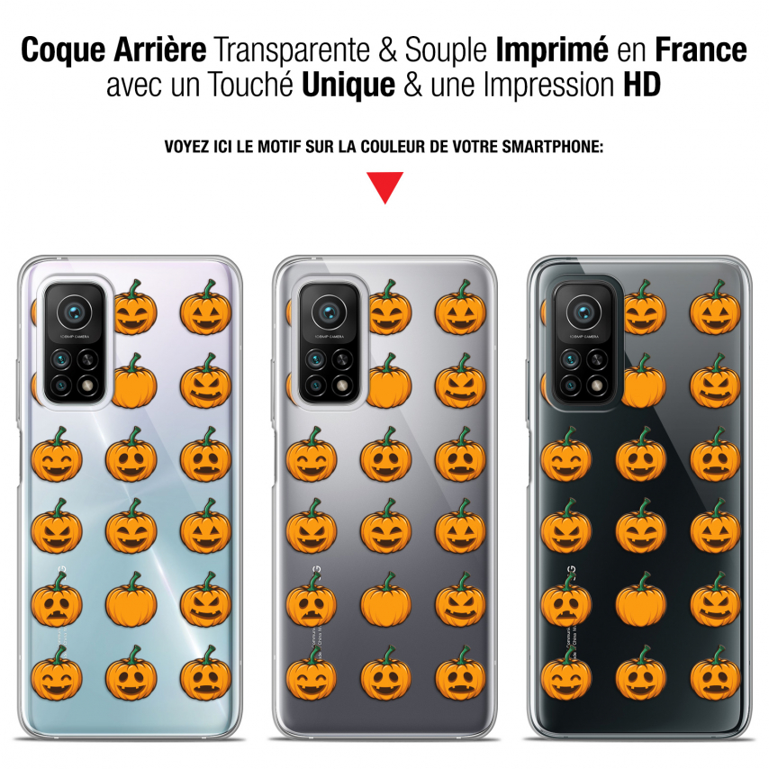 "Coque Gel Xiaomi Mi 10T / 10T Pro 5G (6.67"") Halloween - Smiley Citrouille"