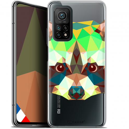 "Coque Gel Xiaomi Mi 10T / 10T Pro 5G (6.67"") Polygon Animals - Raton Laveur"