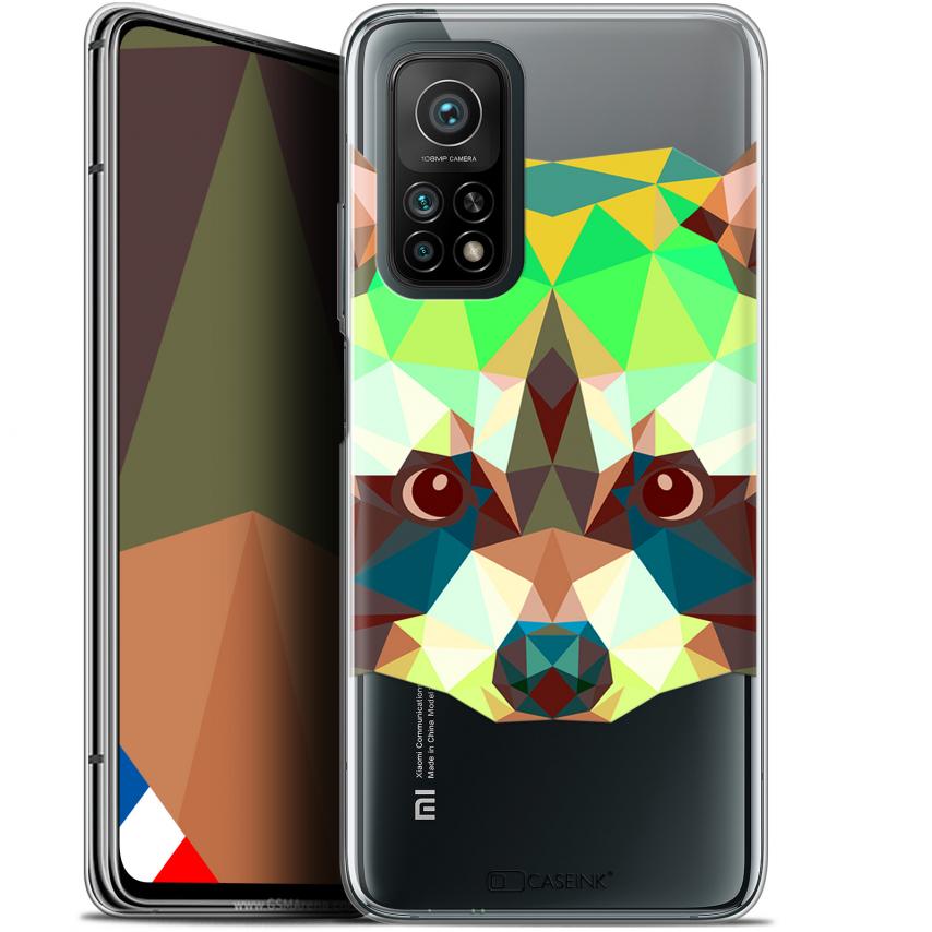 "Coque Gel Xiaomi Mi 10T / 10T Pro 5G (6.67"") Polygon Animals - Raton Laveur"