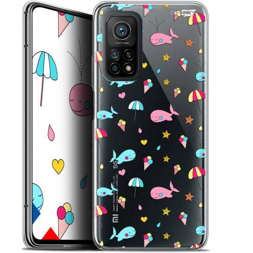 "Coque Gel Xiaomi Mi 10T / 10T Pro 5G (6.67"") Motif - Baleine à la Plage"