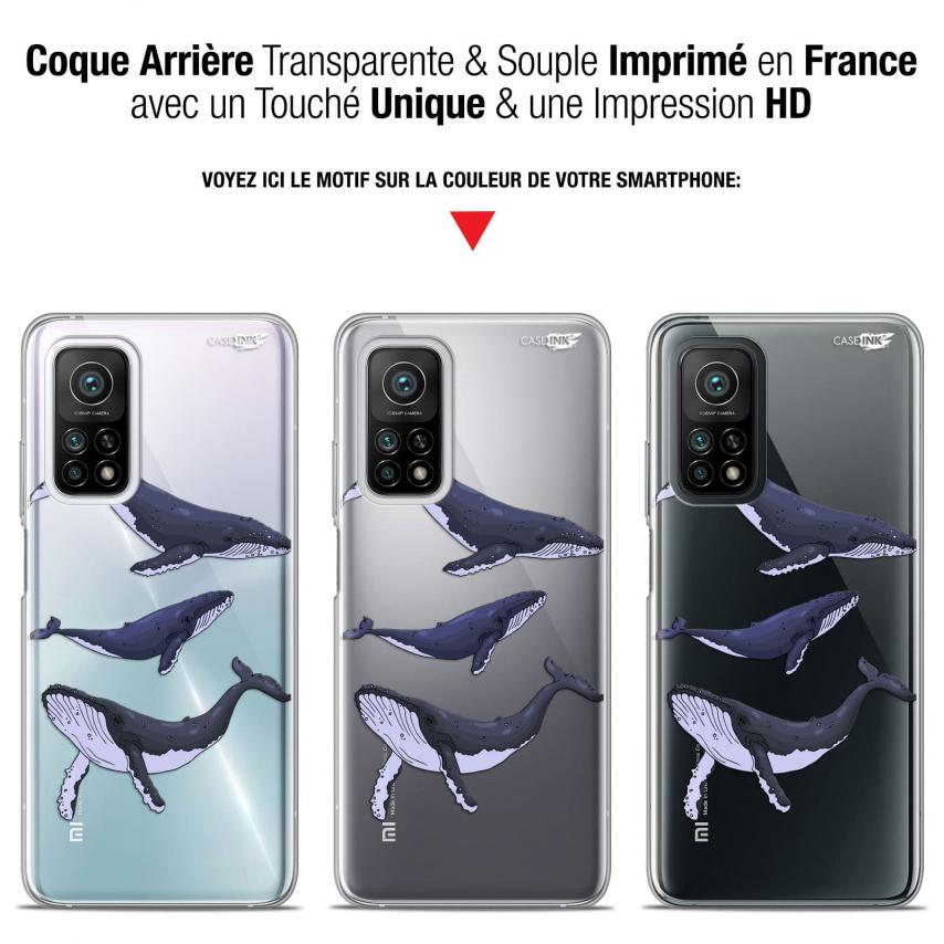 "Coque Gel Xiaomi Mi 10T / 10T Pro 5G (6.67"") Motif - Les 3 Baleines"