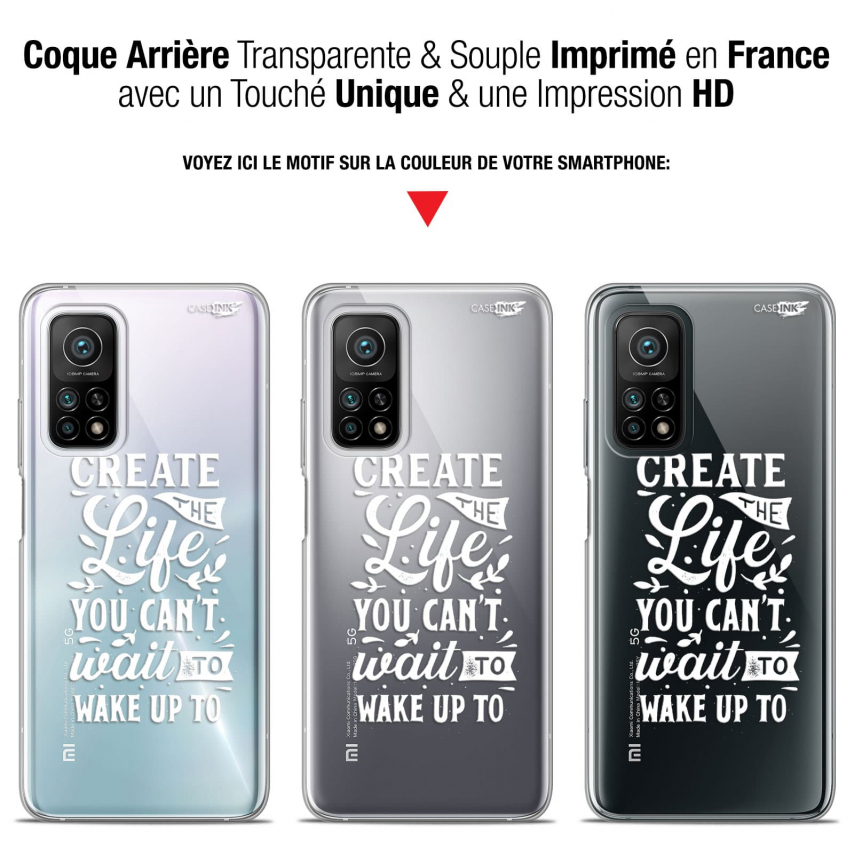 "Coque Gel Xiaomi Mi 10T / 10T Pro 5G (6.67"") Motif - Wake Up Your Life"