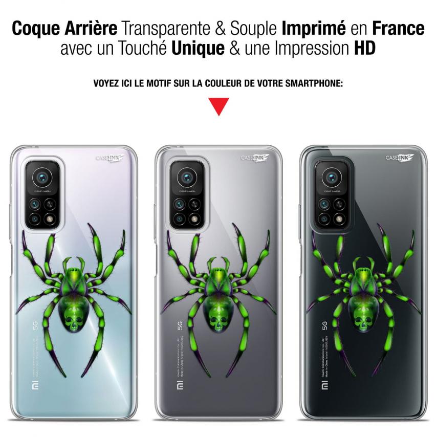 "Coque Gel Xiaomi Mi 10T / 10T Pro 5G (6.67"") Motif - Arraignée Verte"